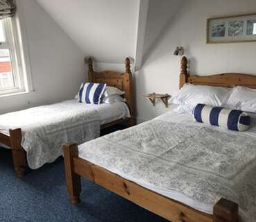 Double/Twin Room With Sea Views, second floor (inc. Cooked Breakfast and Buffet Table)