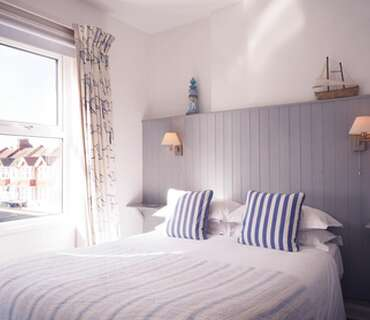 Double Room With Side Sea View, first floor (inc. Cooked Breakfast and Buffet Table)